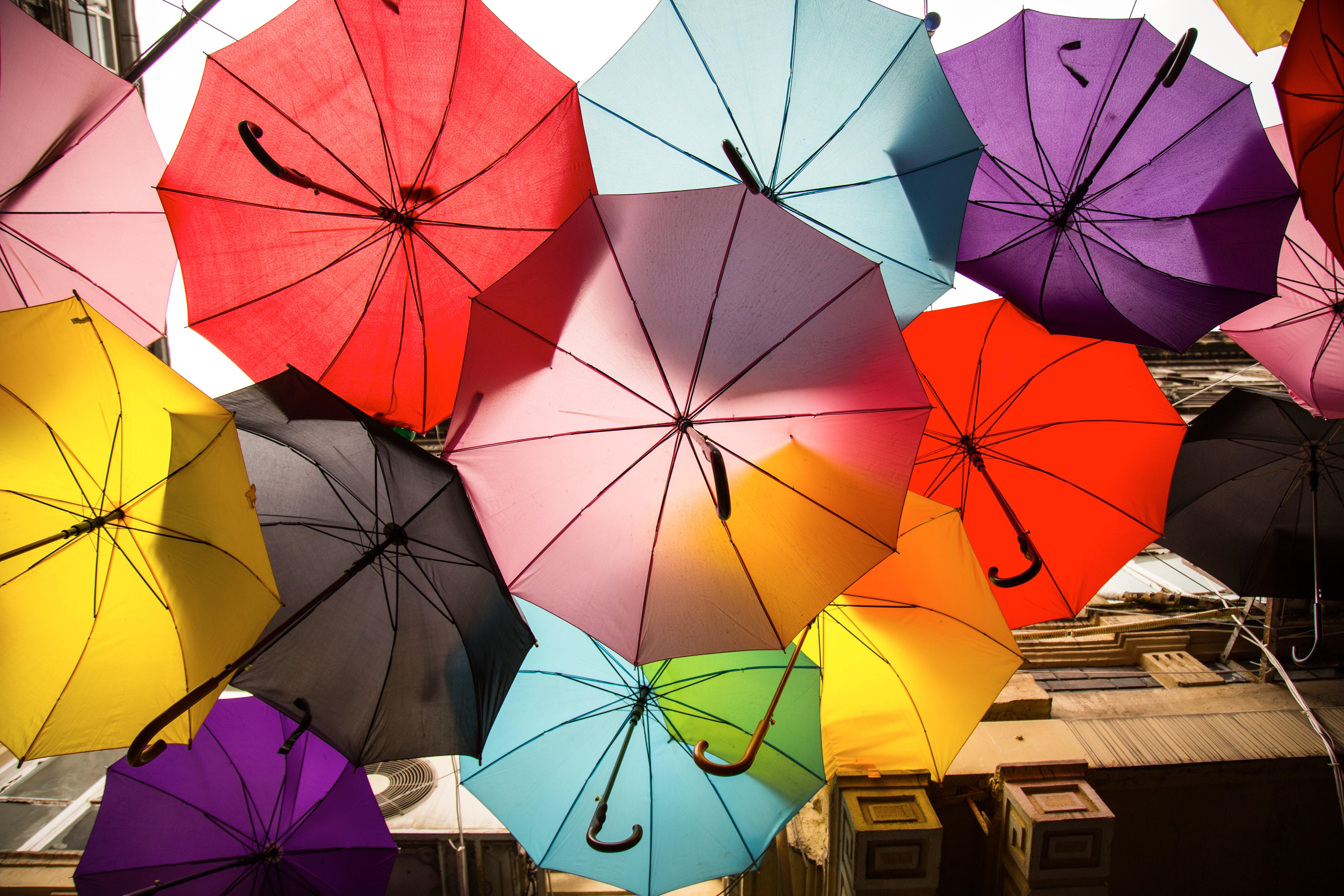 Assorted-color Umbrellas