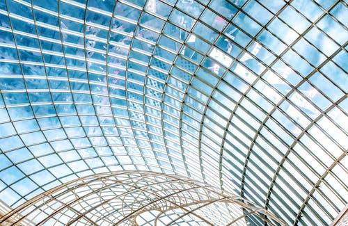 Fotos de stock gratuitas de acero, adentro, arquitectura, artículos de cristal