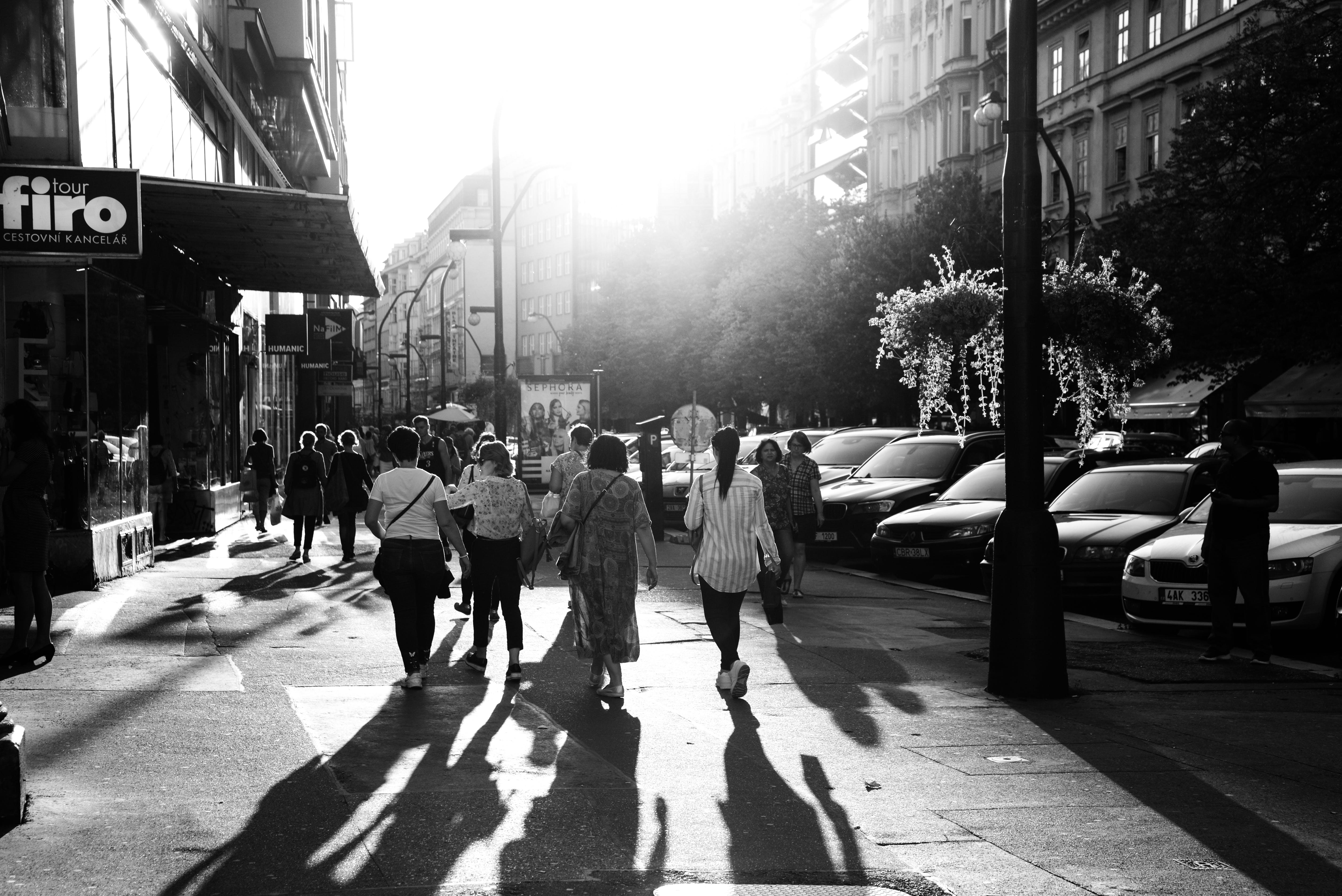 People Walking on Streets
