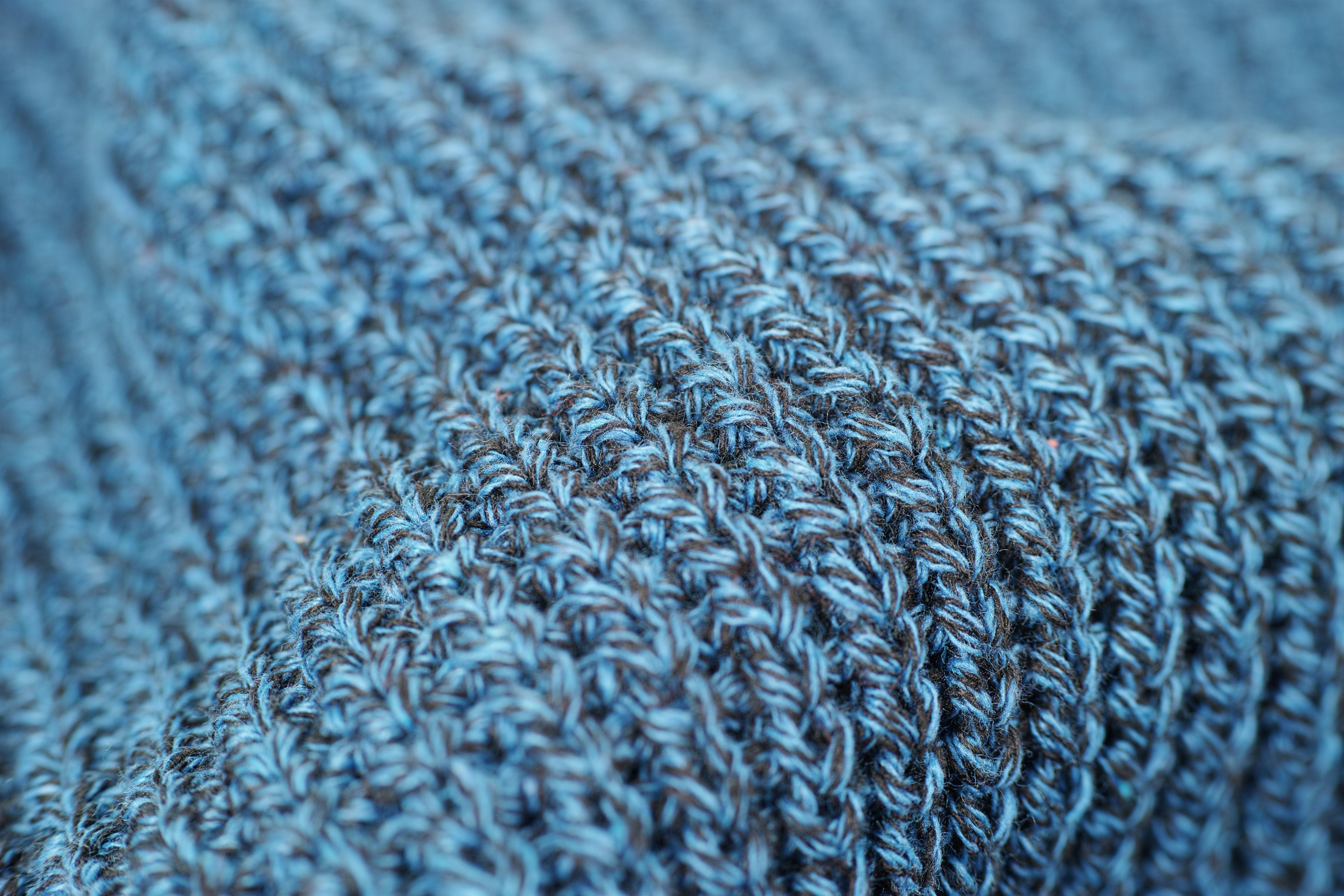 Close-up Photography of Gray Knit Textile