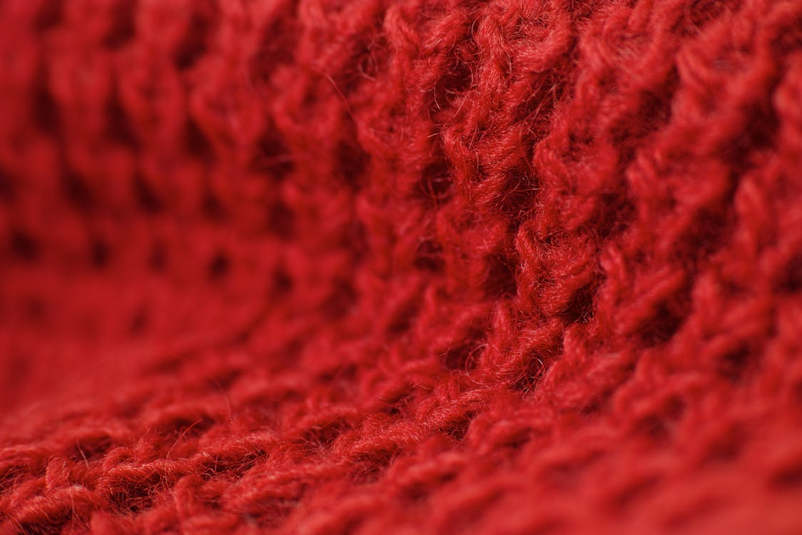 Red Knitted Textile