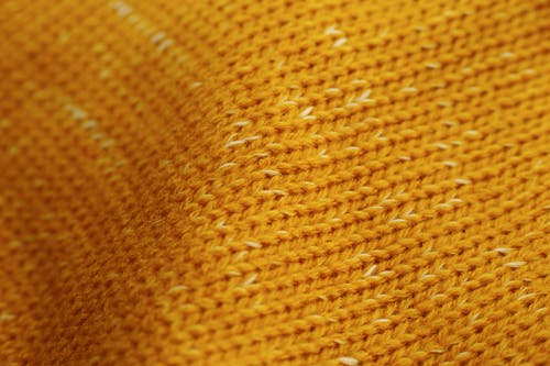 Knitted Yellow Cloth