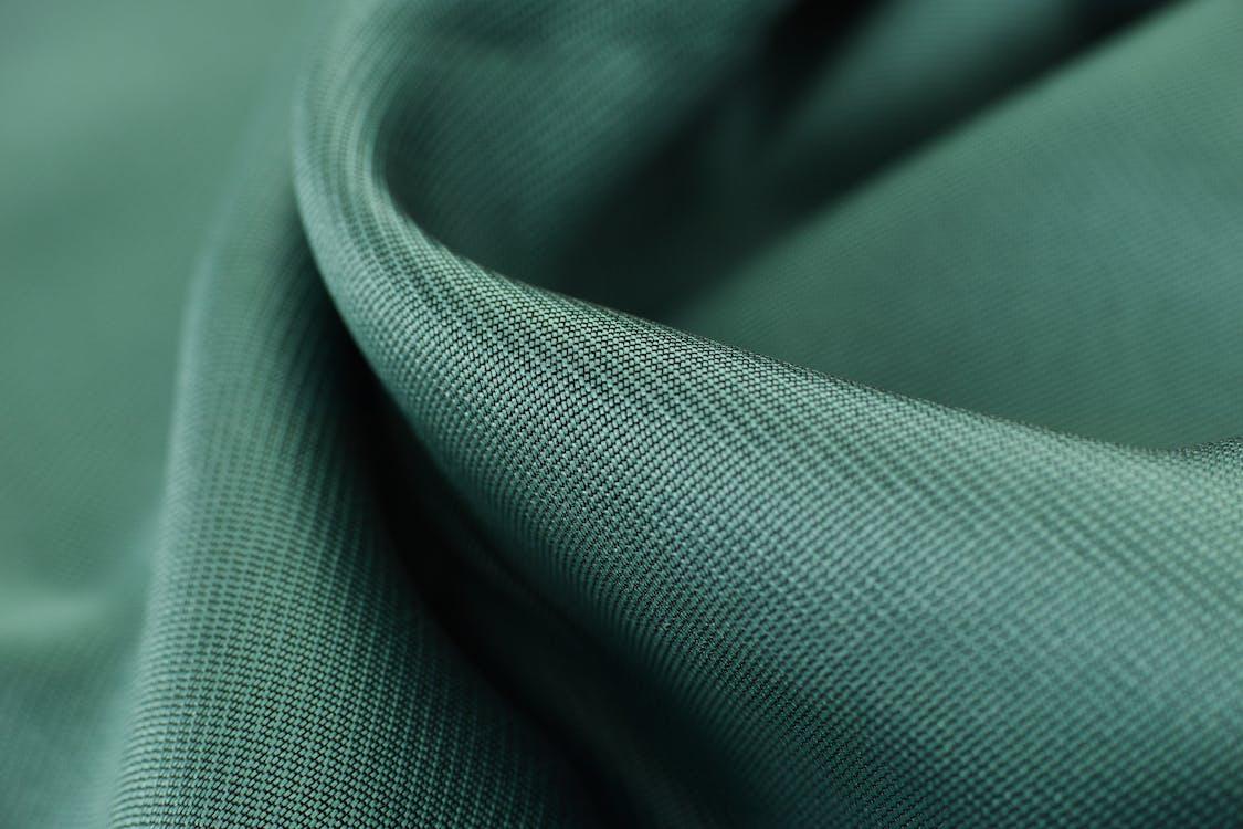 Close View Pf Green Textile