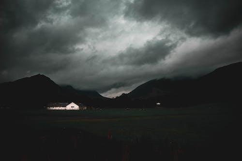 Free stock photo of dark, farm, farm land