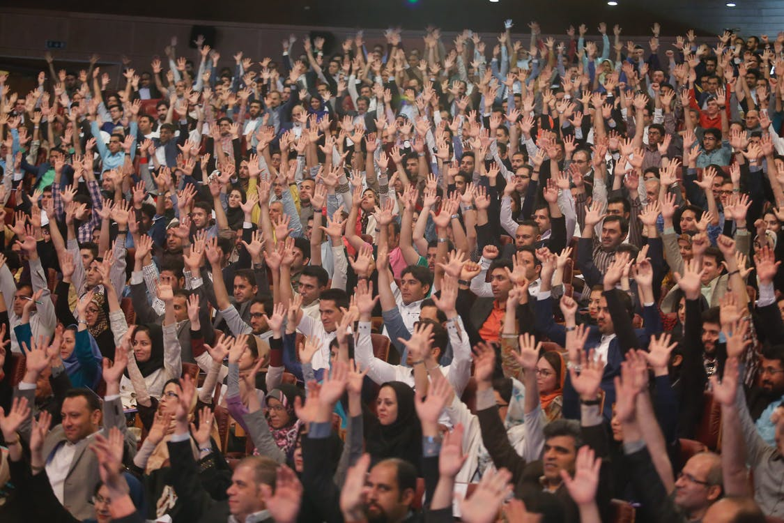 Free stock photo of audience, engagement, fun