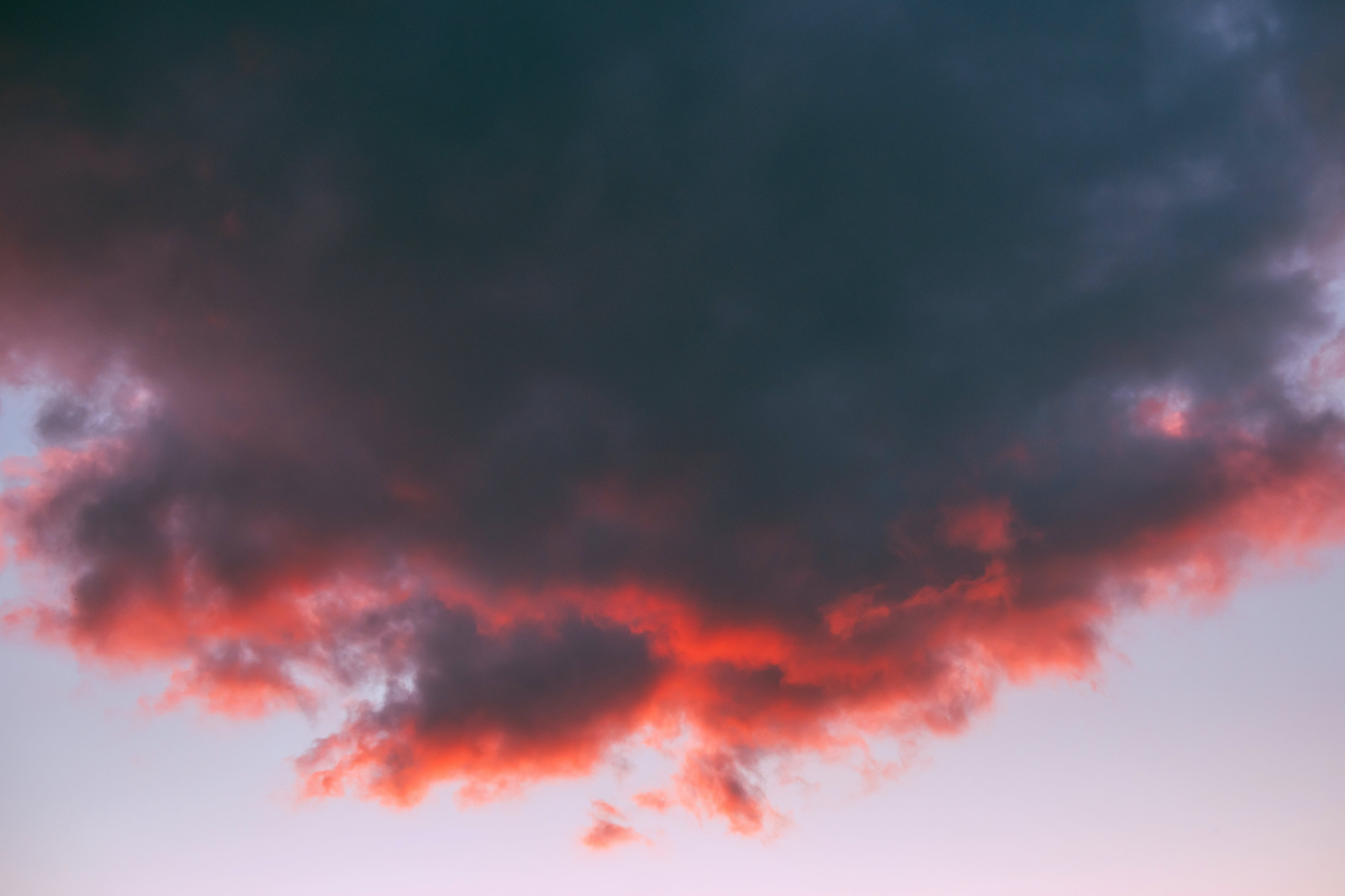 Gray Cloud Formation at Golden Hour