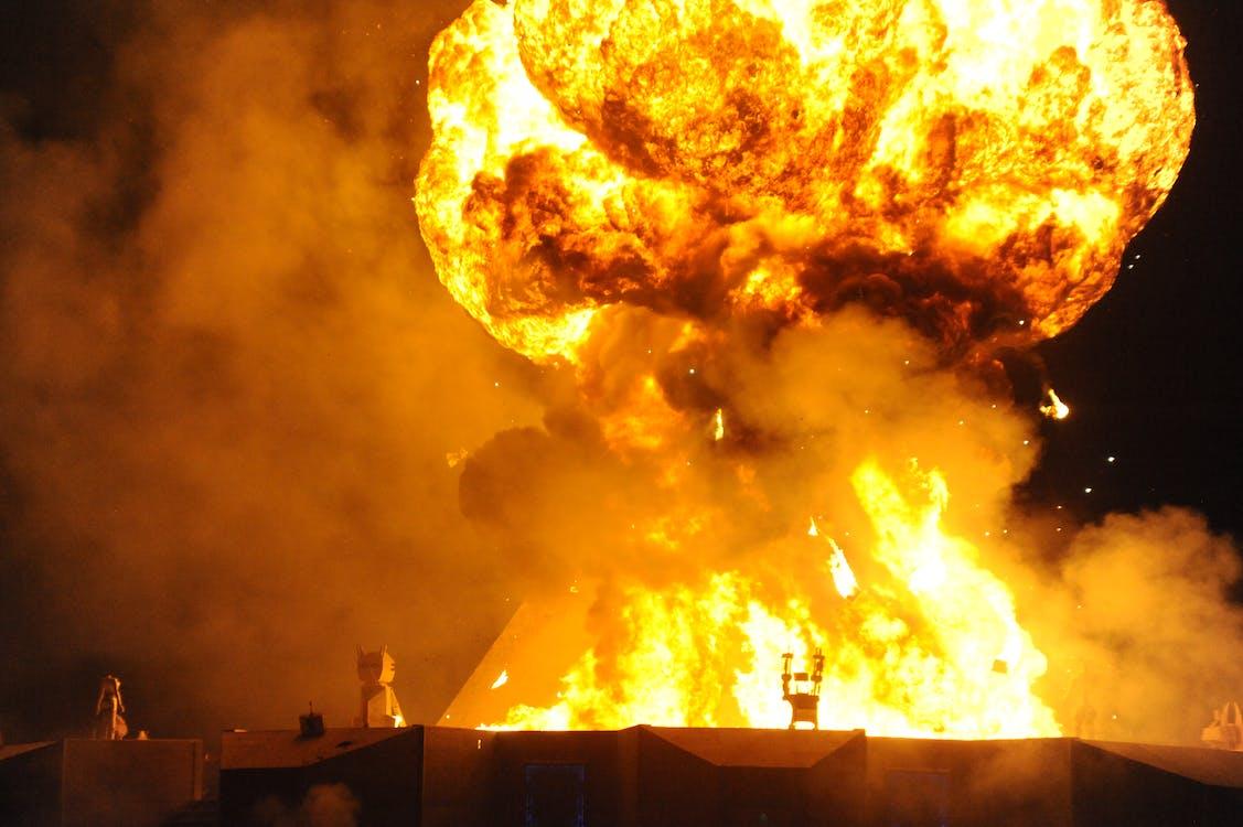 คลังภาพถ่ายฟรี ของ การระเบิด, ระเบิด