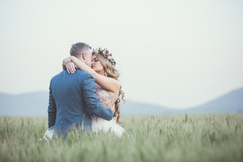 Man and Woman Kissing