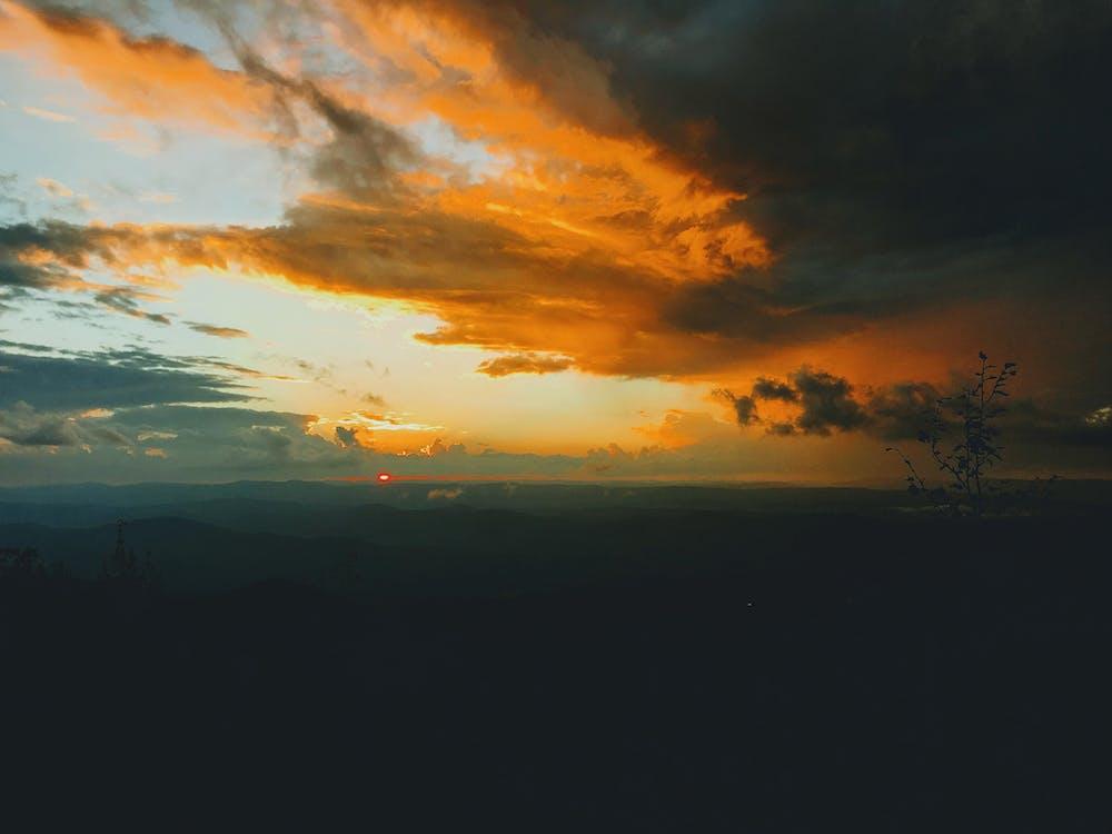 HD шпалери, Буря, вечір