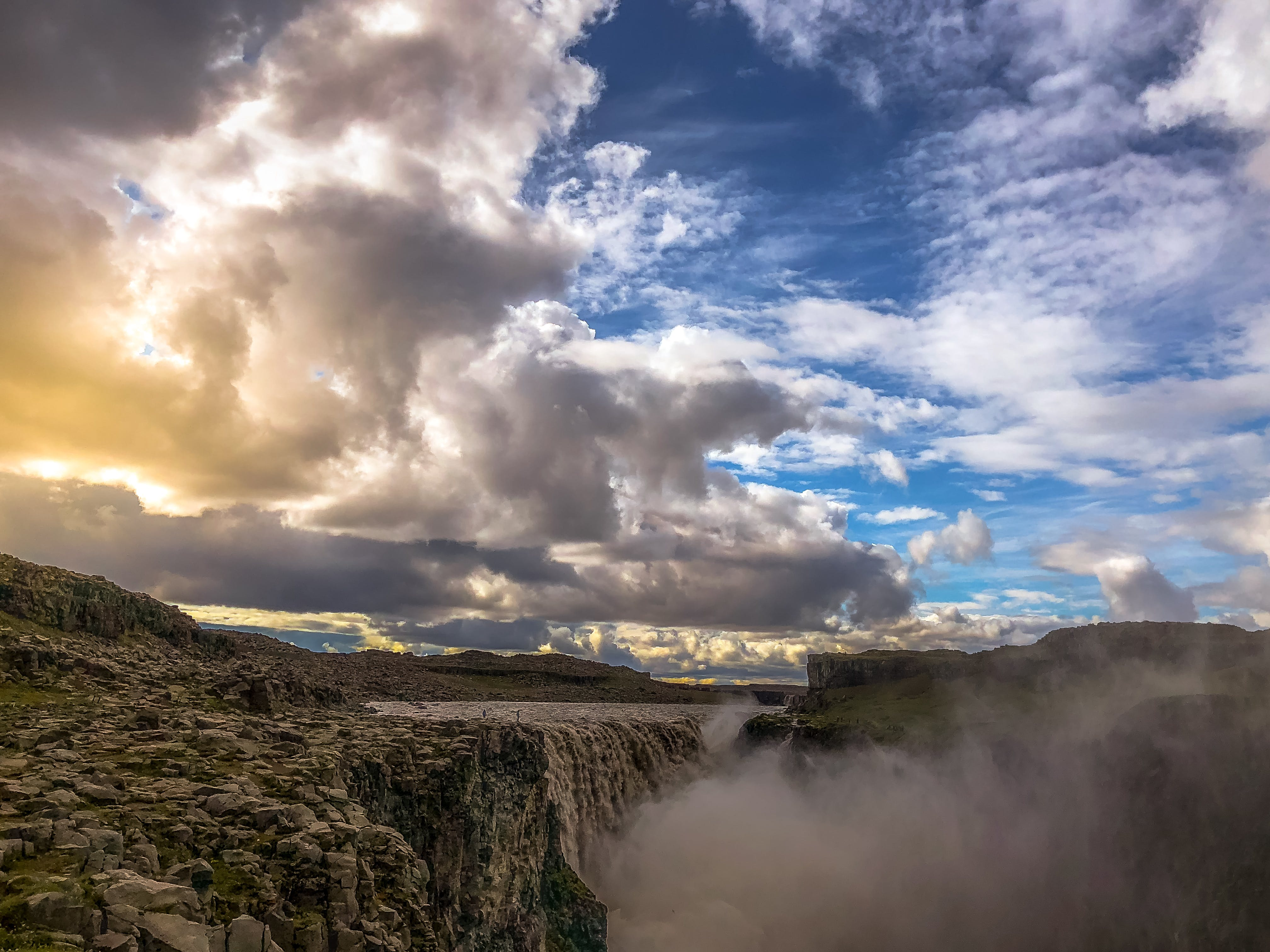 Free stock photo of beautiful, clouds, Dettifoss, iceland