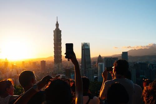 人, 人群, 台北101, 城市 的 免費圖庫相片