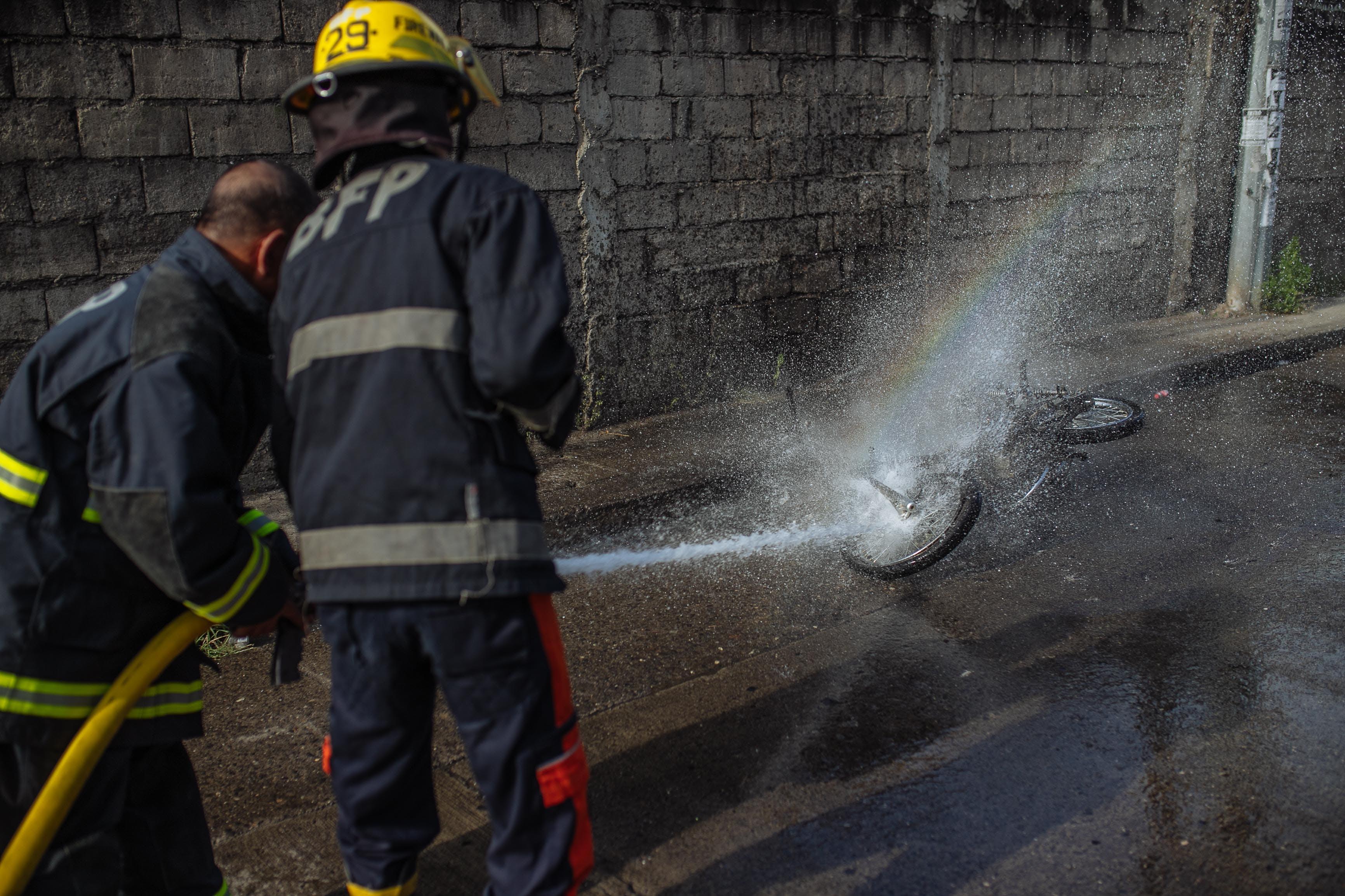 Free stock photo of fire, fireman