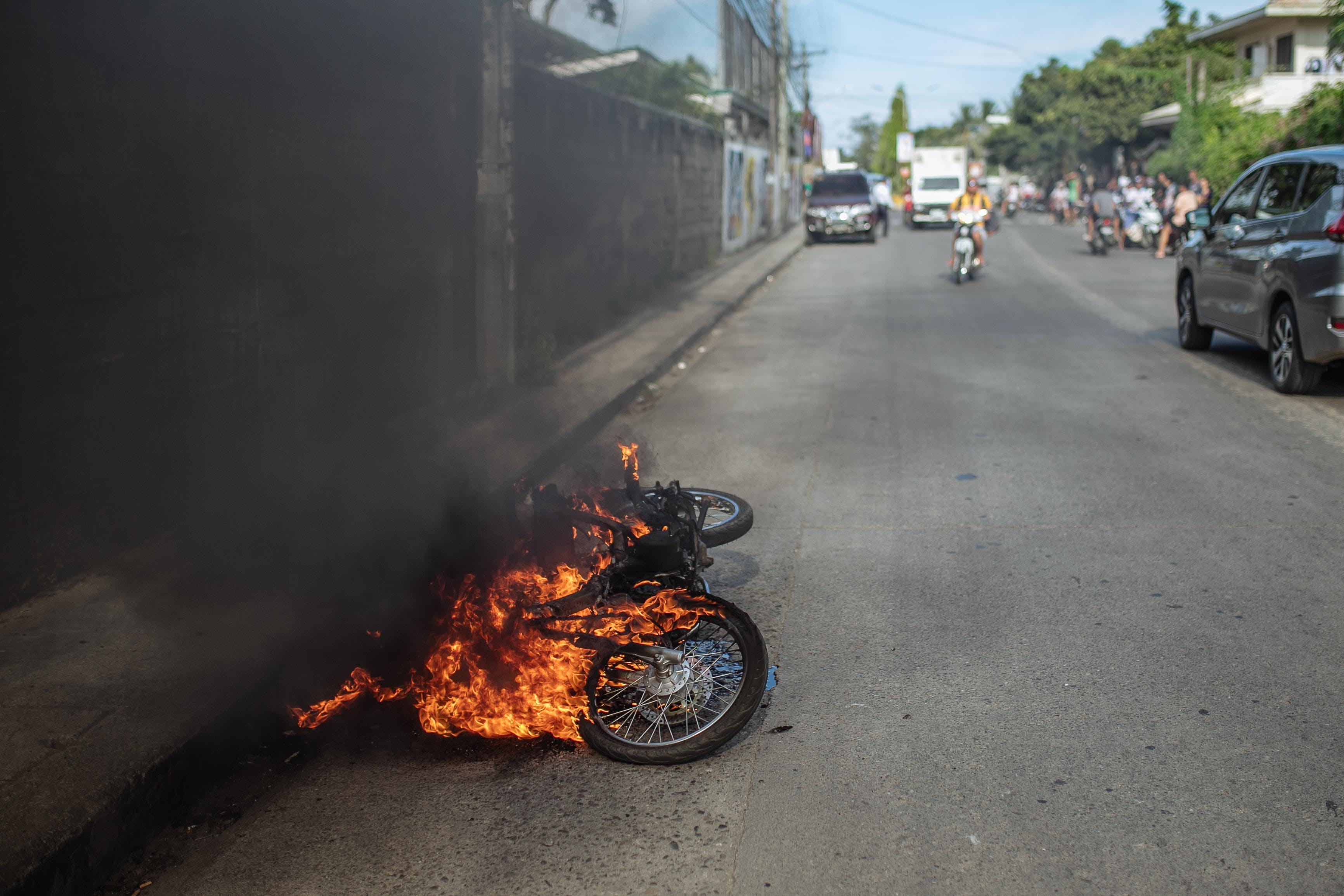 Free stock photo of burning, fire, motorbike