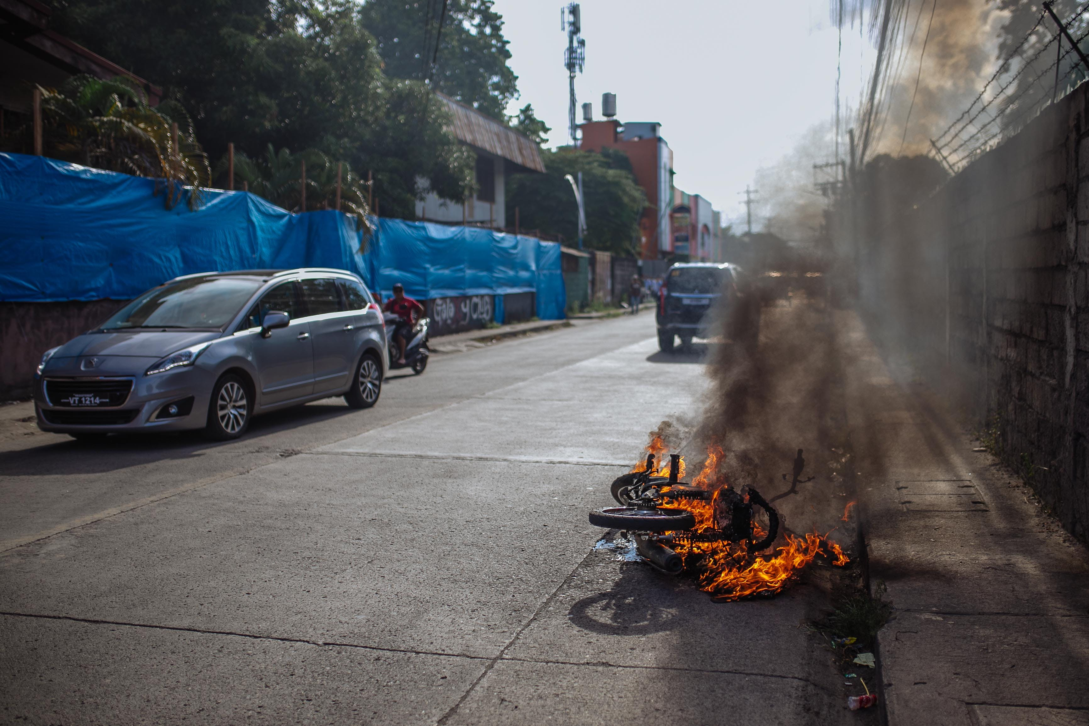 Free stock photo of fire, motorbike