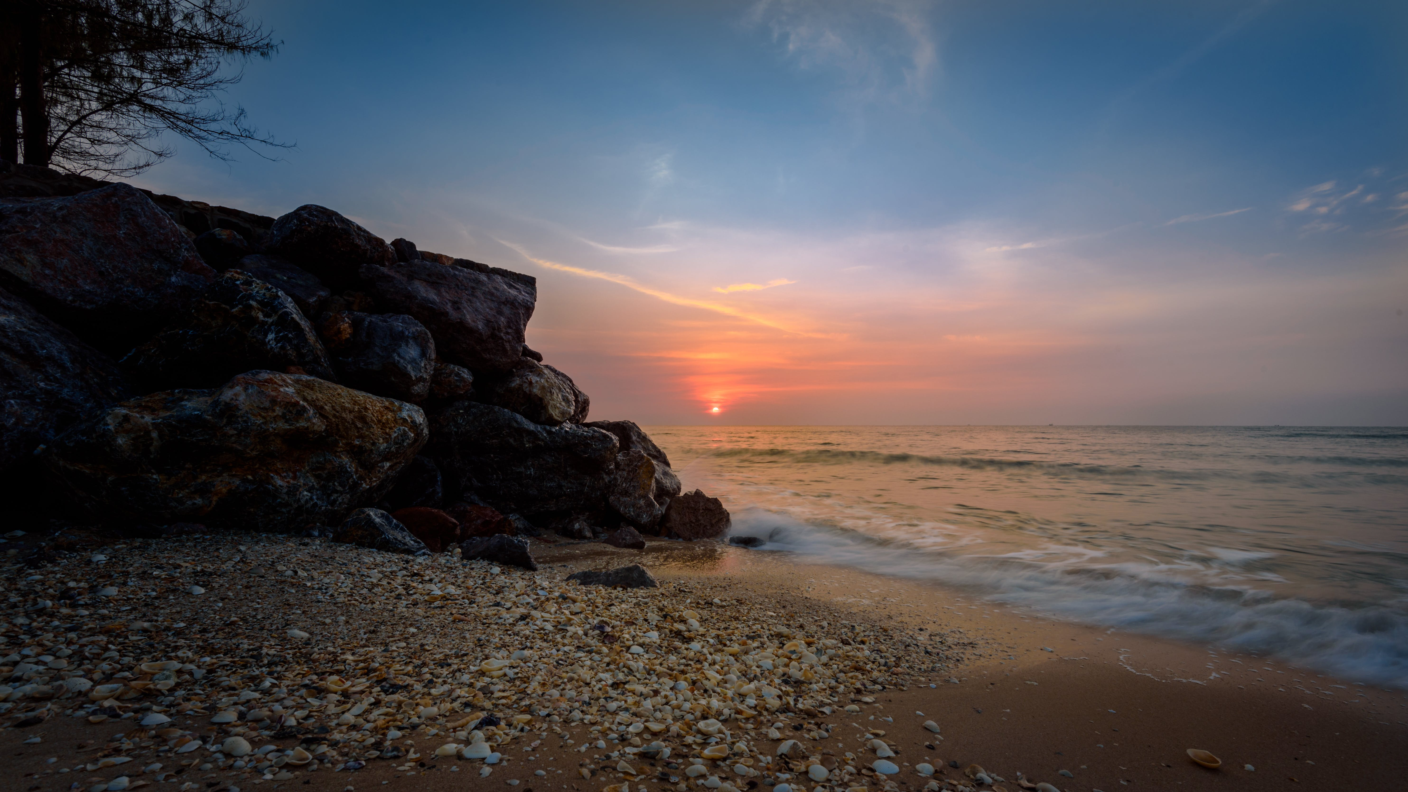 Seashore during Sunset Photography