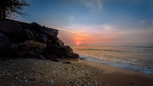 Seashore during Sunset Photography