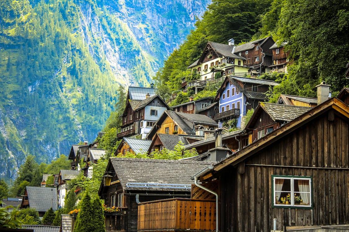 arkkitehtuuri, hallstatt, Itävalta