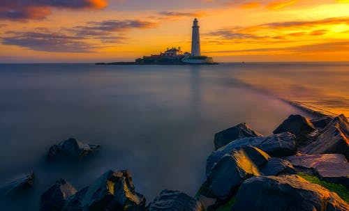 Scenic Photo of a Lighthouse
