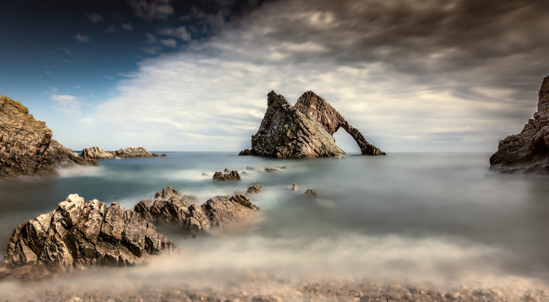 Gratis lagerfoto af bue fiddle rock, hav, havudsigt, klippeformation