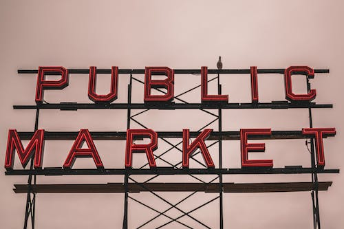 Free stock photo of fish market, overcast, pikes place
