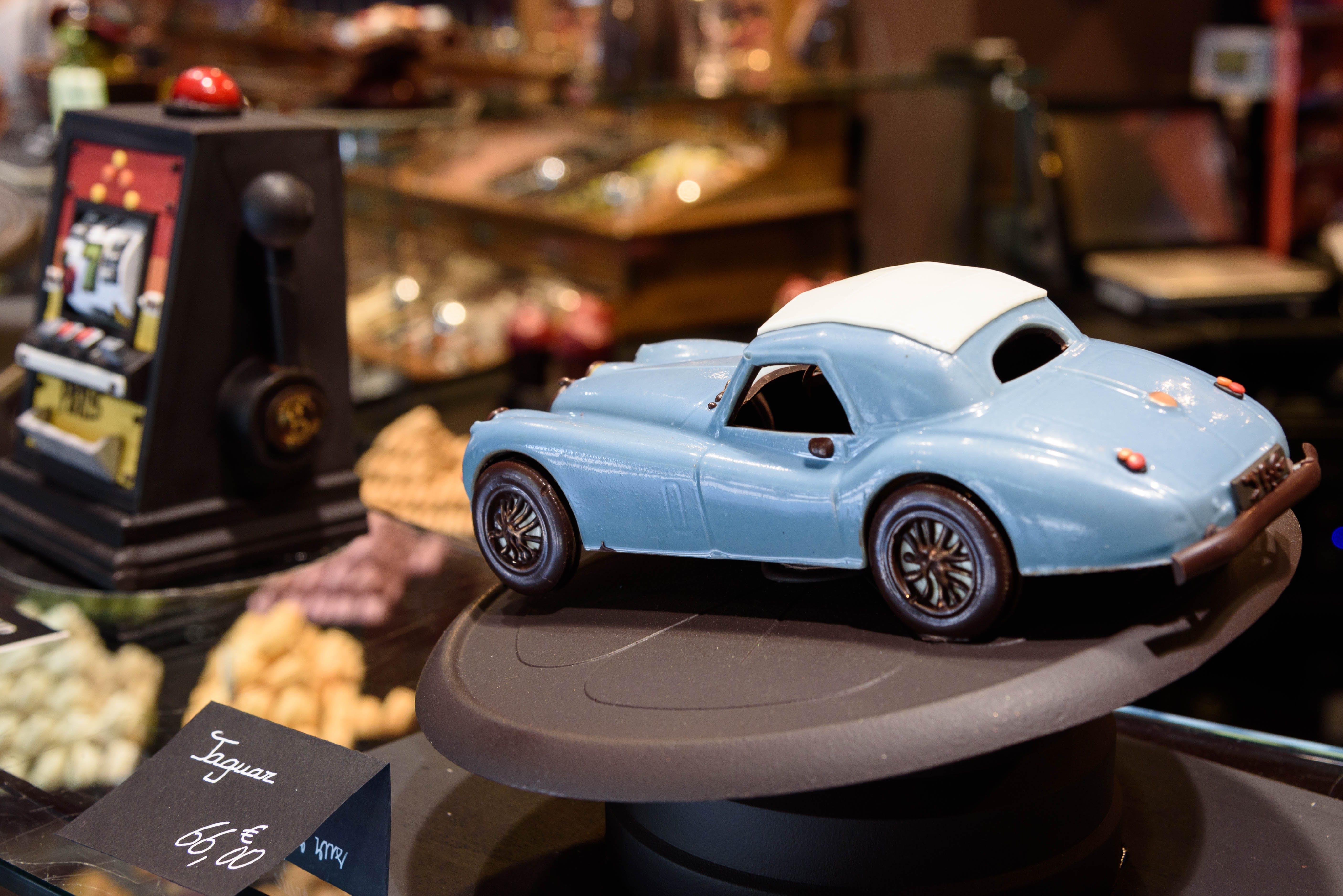 Blue Vintage Coupe Die Cast Car Scale Model