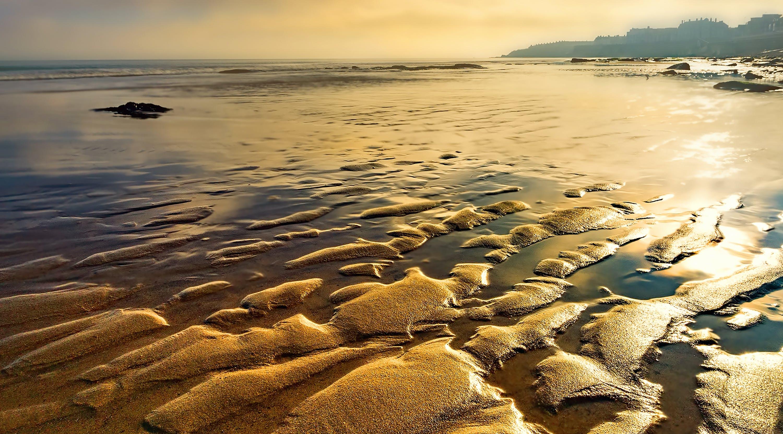 Foto profissional grátis de alvorecer, areia, beira-mar, litoral