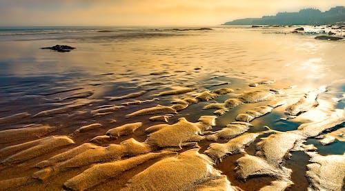 Fotos de stock gratuitas de amanecer, arena, litoral, mar