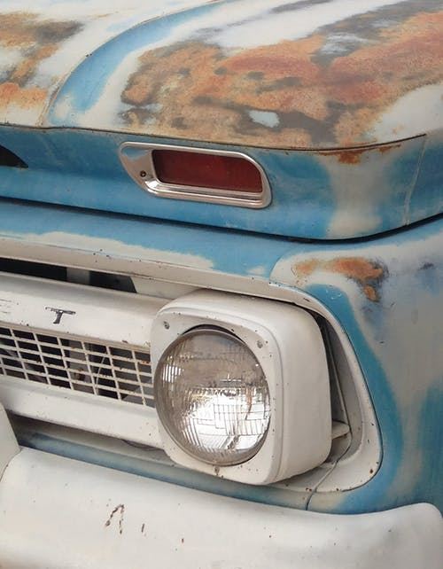 Free stock photo of blue, chevy, grill, headlight
