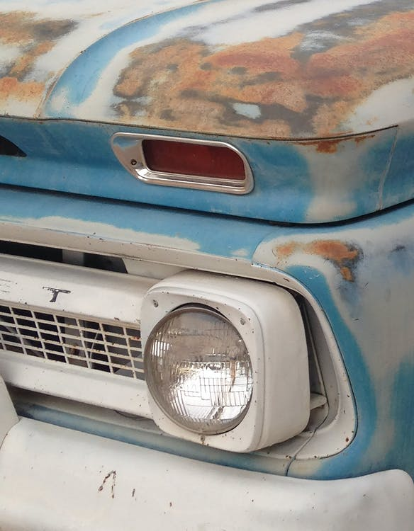 Free stock photo of blue, chevy, grill