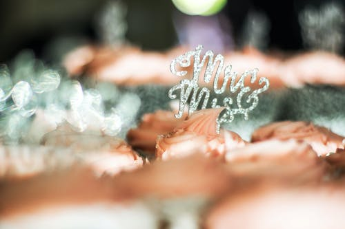 Free stock photo of cake, love, mr&mrs, peach