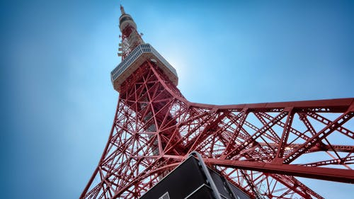 Bottom View of Tokyo Tower