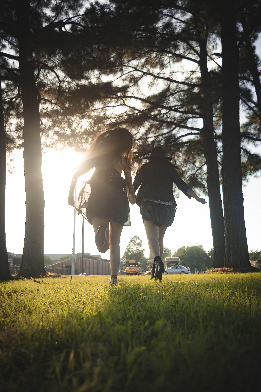 Free stock photo of freedom, girls, happy, raunning