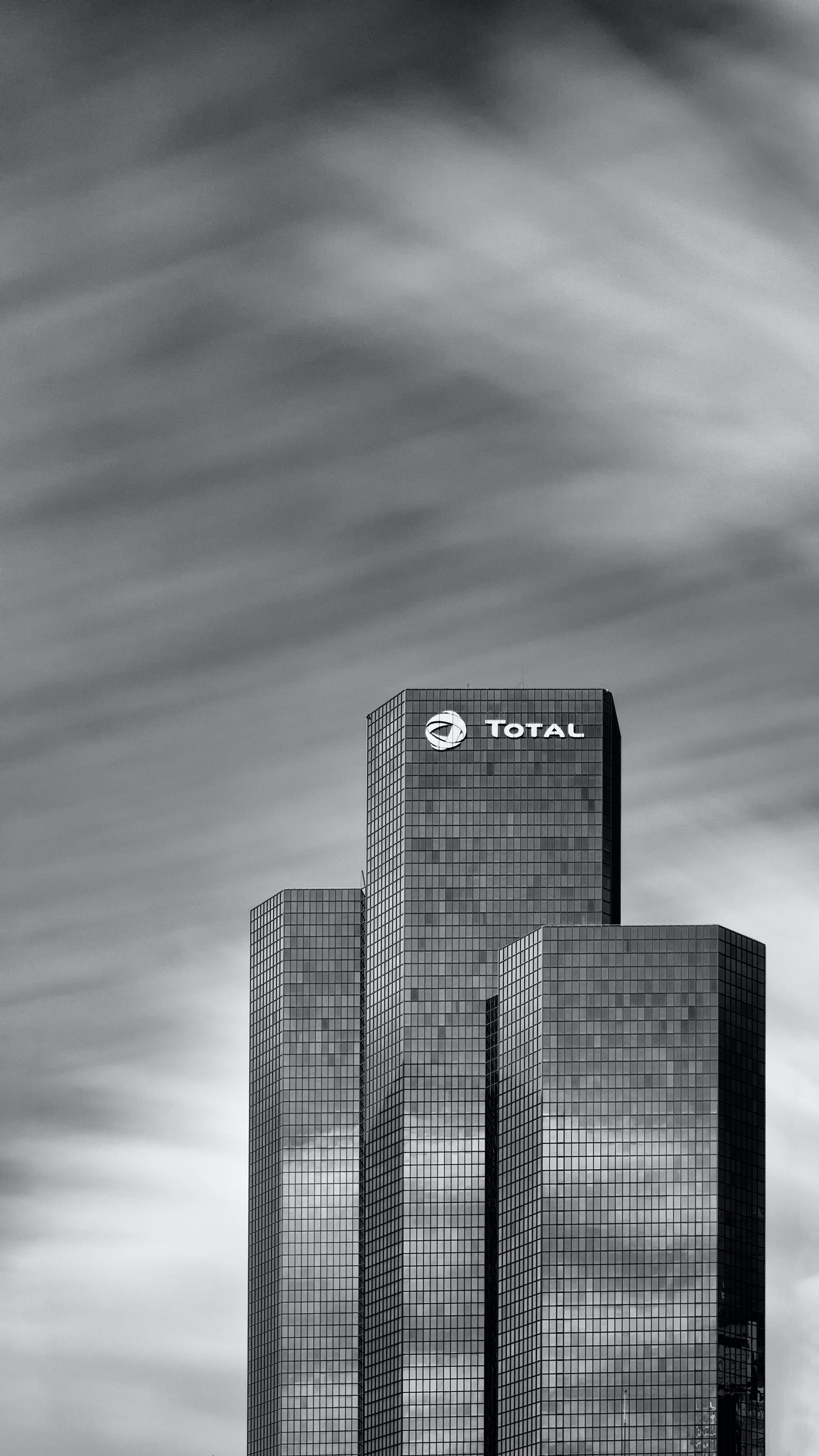 Total Building Greyscale Photo