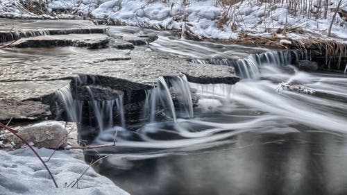Darmowe zdjęcie z galerii z potok, przeziębienie, rzeka, śnieg