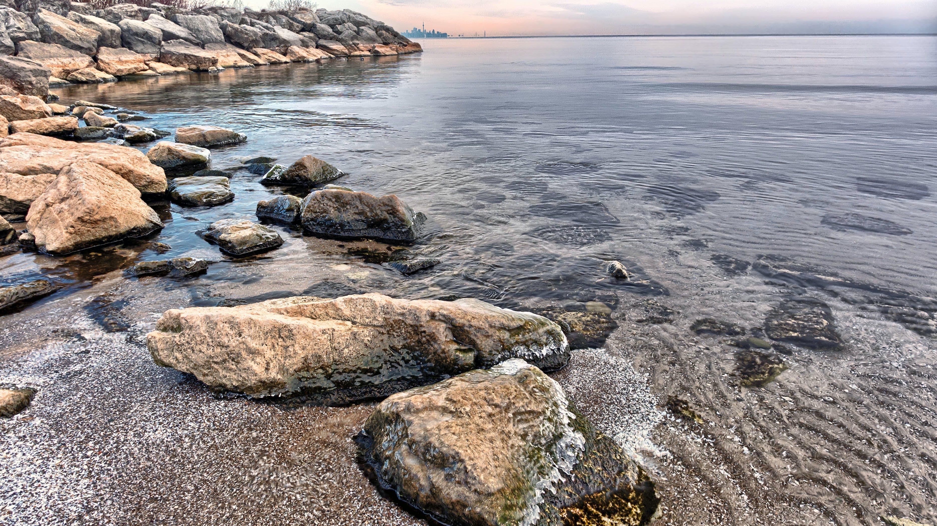 Gray and Blue Seashore