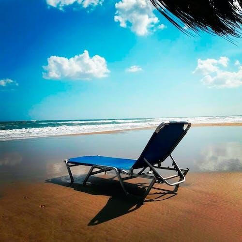 Free stock photo of beach, beach chairs, greece