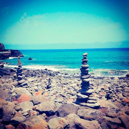 Free stock photo of beach, rocks, see