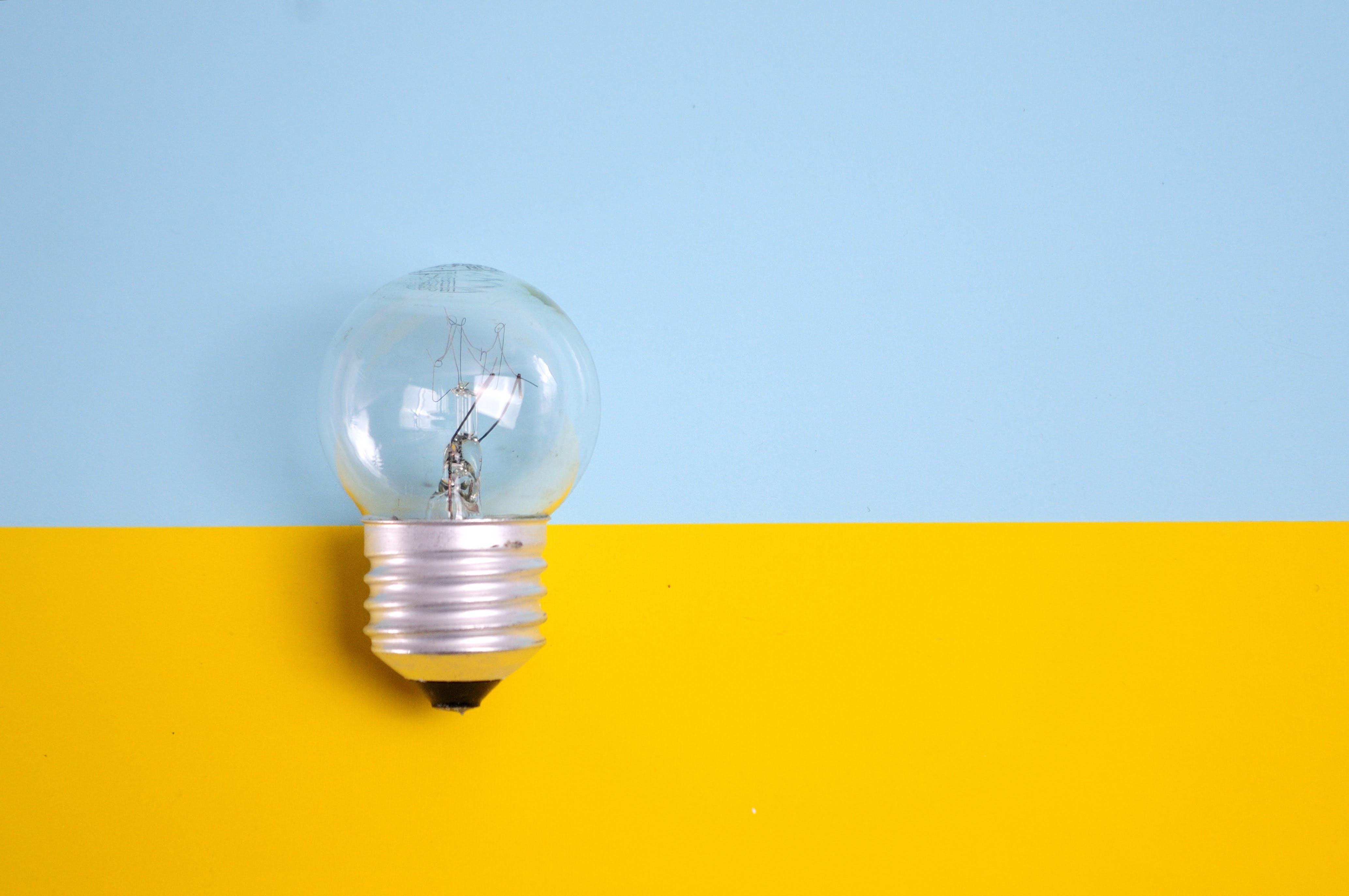 Kostenloses Stock Foto zu glas, lampe, glühbirne, elektrizität