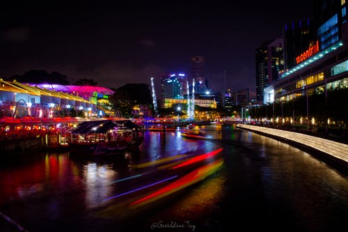 Free stock photo of city, citylights, color, midnight
