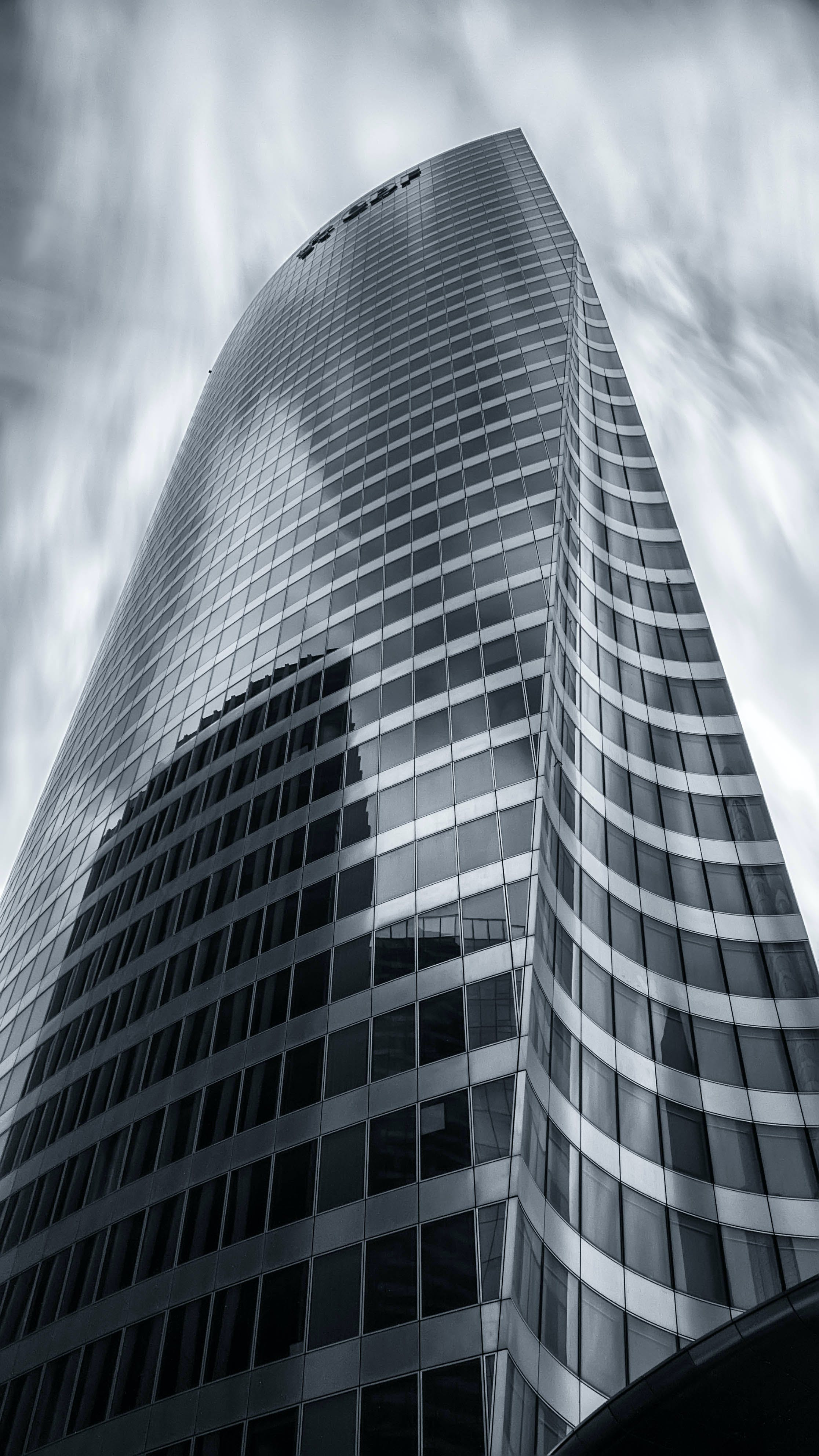 Gray Scale Image of Building
