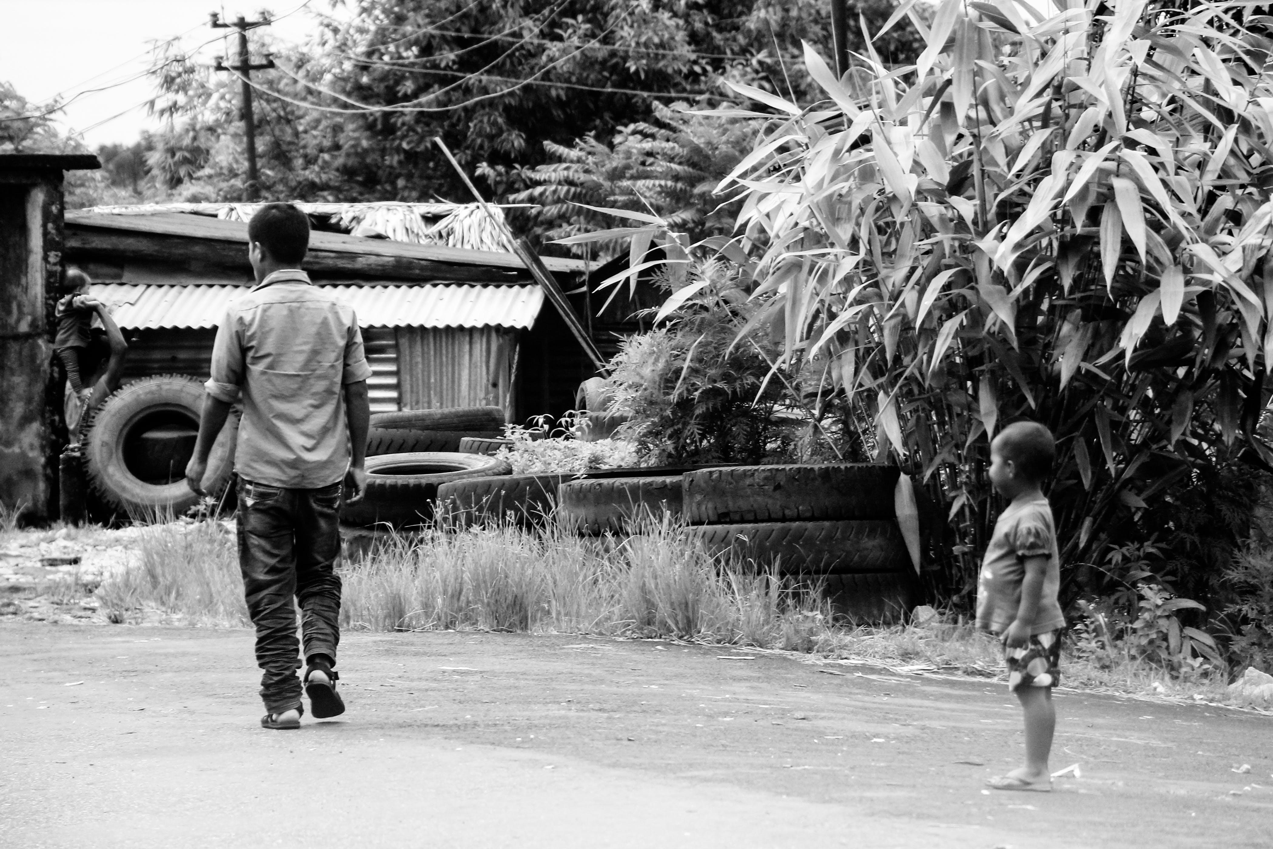 Free stock photo of poor children, road, street
