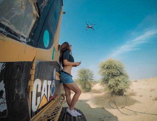 Ingyenes stockfotó drón, exkavátor, fák, fiatal témában