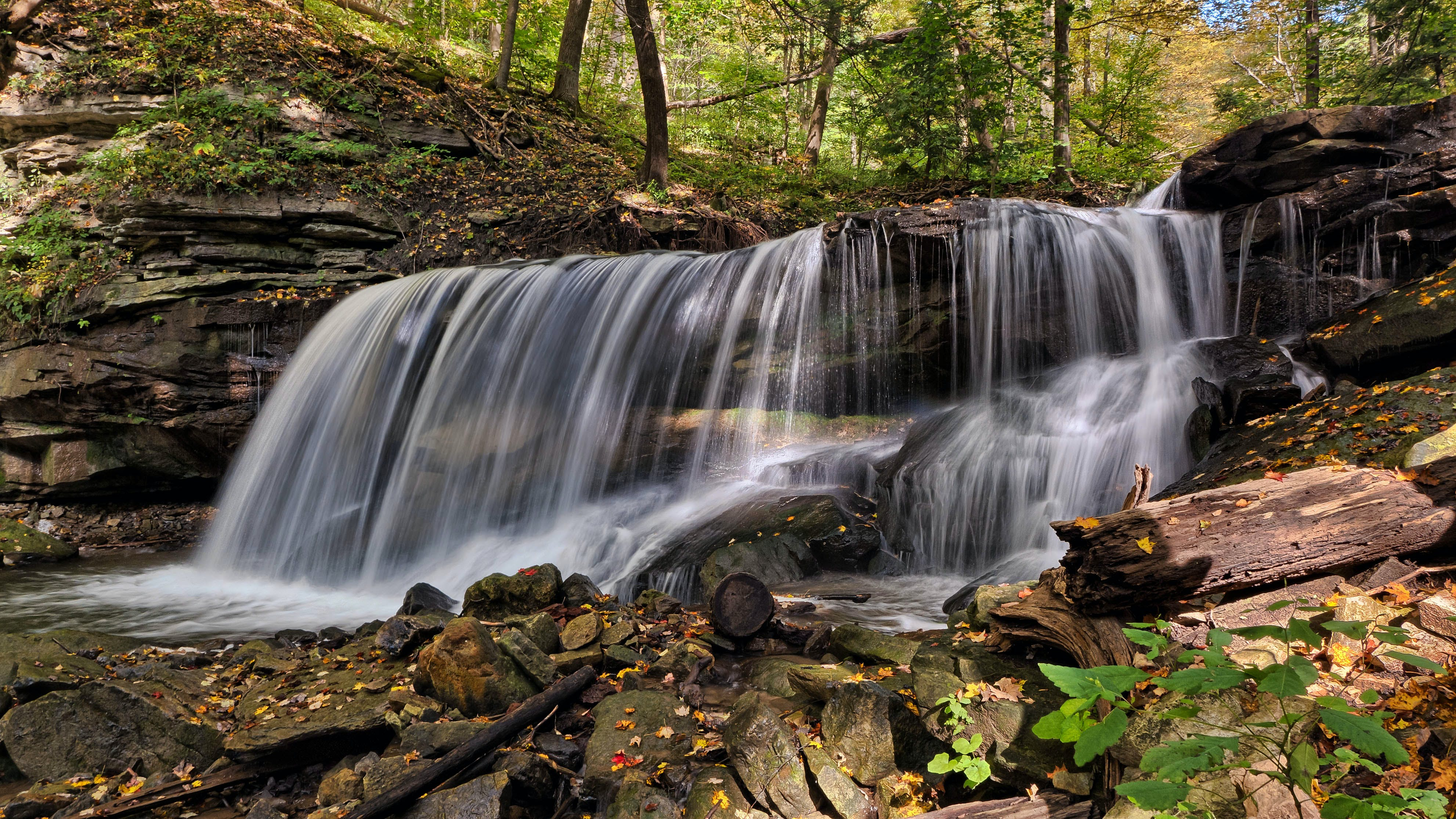 Water Falls in Time Lapse Photography