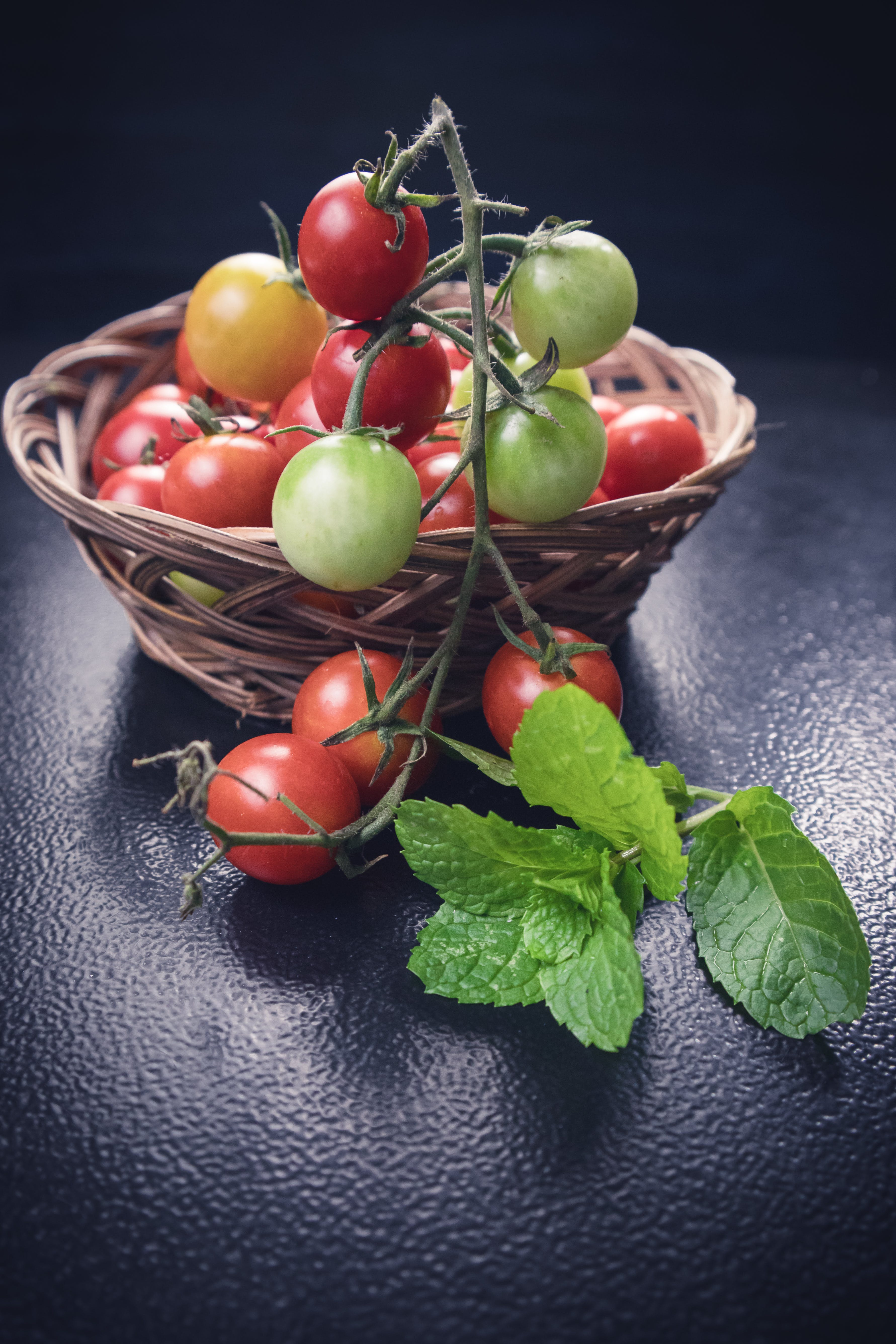 Photo of Tomatoes on Woven Basket