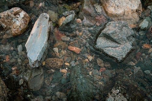 岩, 水, 石, 砂利の無料の写真素材