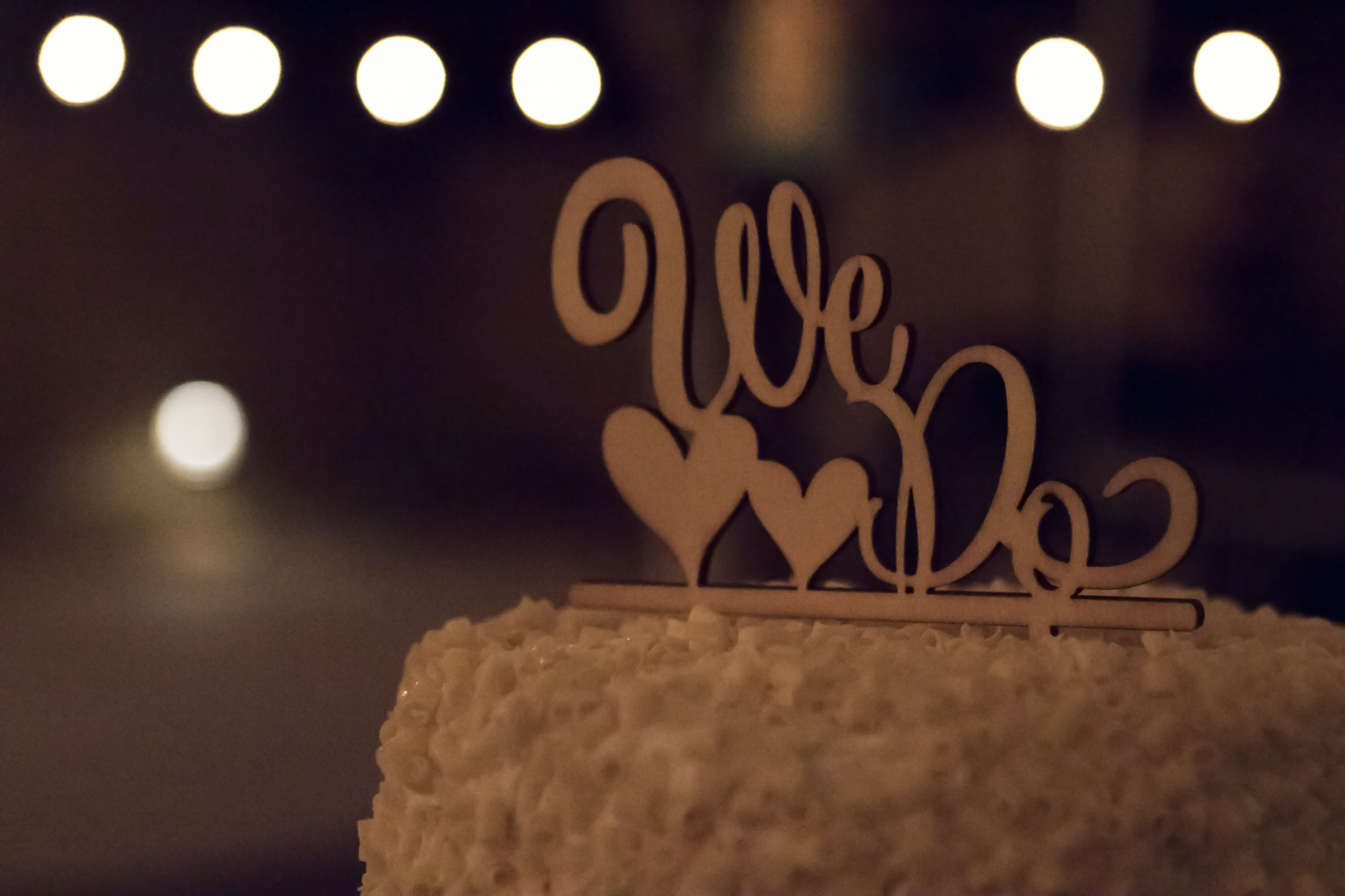Free stock photo of brown, cake topper, heart, marriage