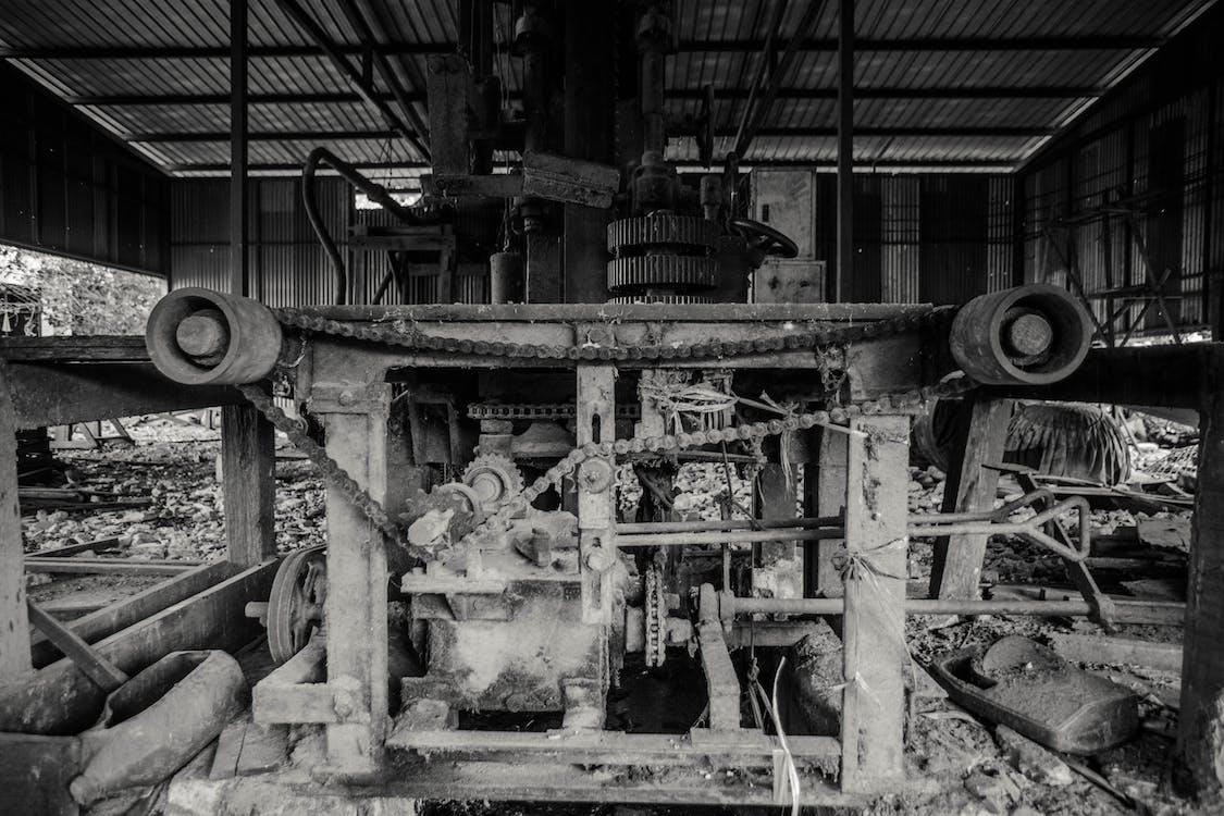 attrezzatura, ingranaggio, vecchia macchina