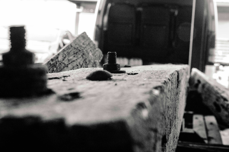 Free stock photo of bolt, nut, wood work