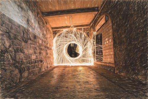 トンネル, 光, 壁, 建物の無料の写真素材