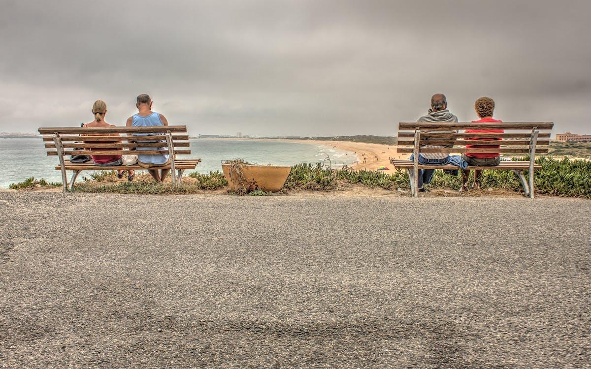 hiekkaranta, ihmiset, istuin